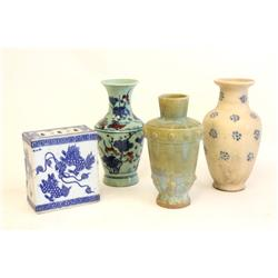 Lot of 4 vases