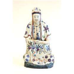 """Seated porcelain """"Guan Yin"""""""