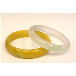 2 jade bracelets