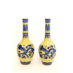 Pair vases Qing Dynasty