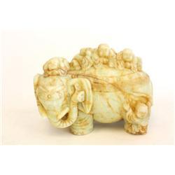 "1 jade figure ""5 Children & Elephant"""