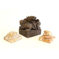 3 jade & stone seals