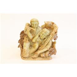 """Jade carving """"2 Men"""""""