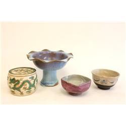 Group lot of 4 pieces porcelain