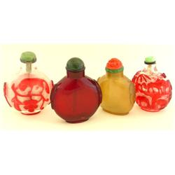 Lot of 4 snuff bottles