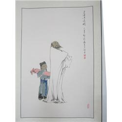 "Chinese scroll of ""Man with Child"""