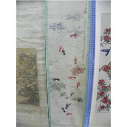 "Chinese scroll ""13 Koi Fish"""
