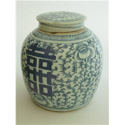 19th c. Chinese blue & white ginger jar