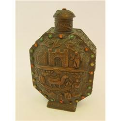 Antique copper & metal snuff bottle