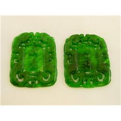 2 jade pendants