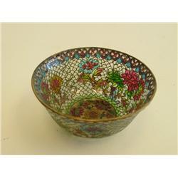 Chinese Plique a jour bowl