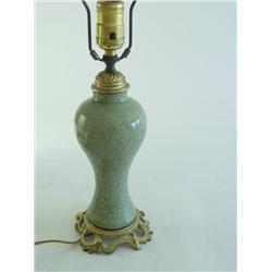 17th c. Chinese porcelain Celadon vase