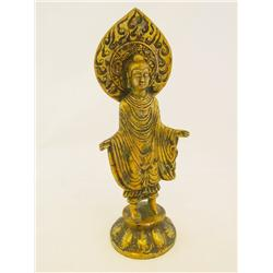 """Gilt bronze """"Standing Buddha"""""""