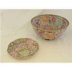 Floral bowl & floral plate
