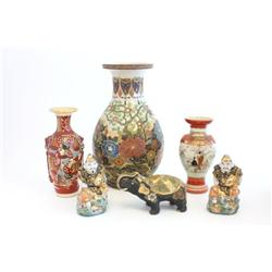 Group lot of Satsuma & Japanese pottery
