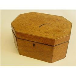 Antique walnut teabox