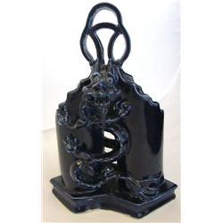 Chinese cobalt blue porcelain brush holder