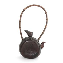 Chinese bamboo teapot signed