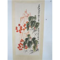 """Chinese scroll """"Flower Painting"""""""