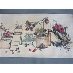 "Chinese scroll ""Longevity & Good Fortune"""