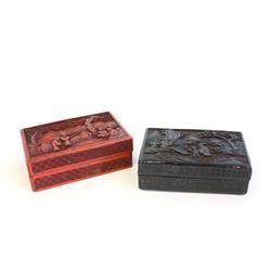 2 lacquerware boxes