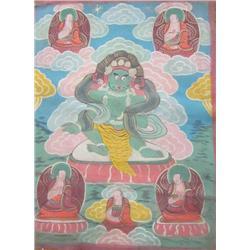 Tibetan handpainted Tanka