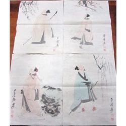 "4 soft paper drawings of ""Wisemen"""