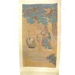 "Chinese scroll of ""Wisemen & Children"""