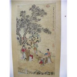 "Chinese scroll of ""Classroom Scene"""