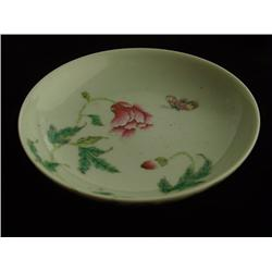 "Porcelain dish with ""Flowers & Butterfly"""