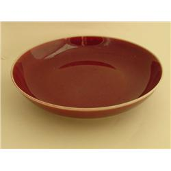"Red glaze dish with ""Guang Xu"" mark"